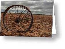 Broken Spokes Greeting Card