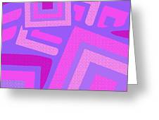 Broken Squares Greeting Card