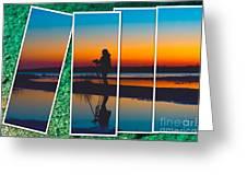 Broken Sunset Greeting Card