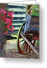 Broken Wagon Greeting Card