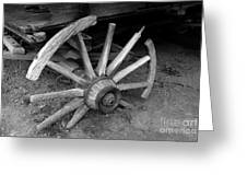 Broken Wheel Greeting Card