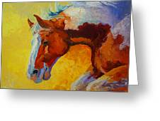 Bronc I Greeting Card