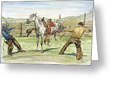 Bronco Busters Greeting Card