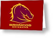 Broncos Brisbane Greeting Card