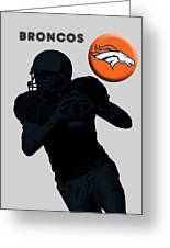 Broncos Football Greeting Card