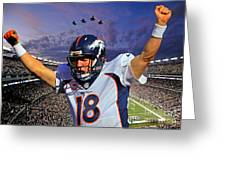 Broncos Win Super Bowl Fifty Greeting Card