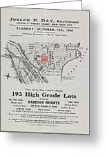 Bronx 1907 Realtor Flyer Greeting Card