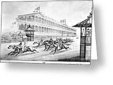Bronx: Horse Race, 1866 Greeting Card by Granger
