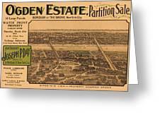 1909 Bronx New York Realtor Flyer Greeting Card