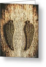 Bronze Angel Wings Greeting Card