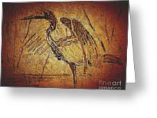 Bronze Heron Greeting Card