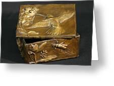 Bronze Hummingbird Box Greeting Card by Dawn Senior-Trask
