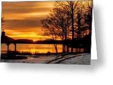 Bronze Winter Dawn Greeting Card