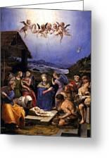 Bronzino Agnolo Painting Greeting Card