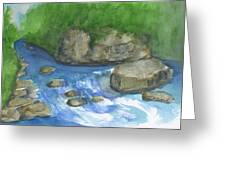 Brook And Stream  Greeting Card
