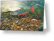 Brook Trout Art Fish Art Nature Wildlife Underwater Greeting Card