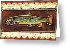 Brook Trout Lodge Greeting Card