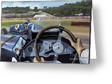 Brooklands From The Hot Seat  Greeting Card
