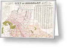 Brooklyn 1893 Map Greeting Card