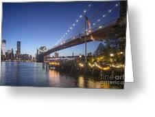 Brooklyn Brdige New York  Greeting Card