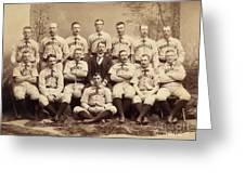 Brooklyn Bridegrooms Baseball Team Greeting Card