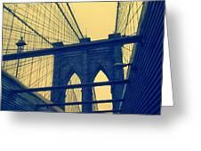New York City's Famous Brooklyn Bridge Greeting Card