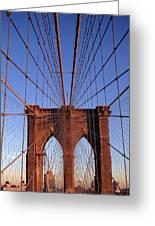 Brooklyn Bridge Greeting Card by Brooklyn Bridge