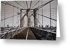 Brooklyn Bridge By Art Farrar Photographs, Ny 1930 Greeting Card