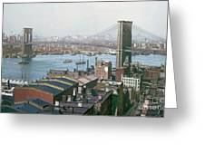 Brooklyn Bridge Circa 1904 Greeting Card