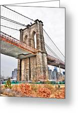 Brooklyn Bridge Close Up Greeting Card