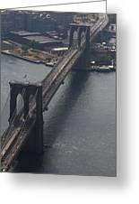 Brooklyn Bridge From The Beekman Greeting Card