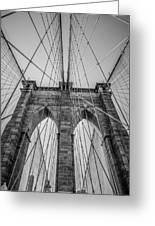 Brooklyn Bridge Goes Up Greeting Card