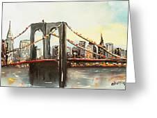 Brooklyn Bridge  Greeting Card