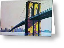 Brooklyn Bridge, N Y  Greeting Card