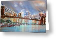 Brooklyn Bridge New York Greeting Card