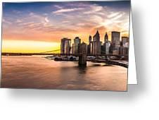 Brooklyn Bridge Panorama Greeting Card