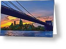 Brooklyn Bridge Collection - 2 Greeting Card