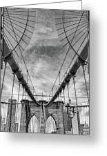 Brooklyn  Bridge Suspension Cables Greeting Card