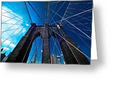 Brooklyn Bridge Vertical Greeting Card by Thomas Splietker