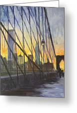 Brooklyn Bridge Wires Greeting Card