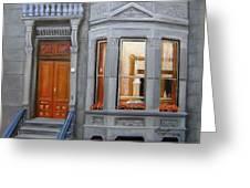 Brooklyn Brownstone Window Greeting Card