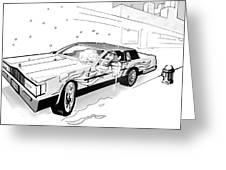 Brooklyn Cadillac Greeting Card by Jose Roldan Rendon