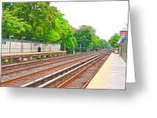 Brooklyn Subway Train Station 1 Greeting Card