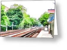 Brooklyn Subway Train Station 3 Greeting Card