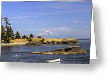 Brooks Point With Mt. Baker Greeting Card