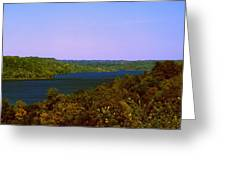 Brookville Lake Autumn Colors Greeting Card