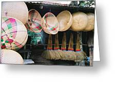 Brooms And Baskets Greeting Card