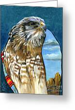Brother Hawk Greeting Card