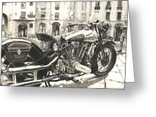 Brough Superior Ss 100 Greeting Card