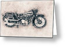 Brough Superior Ss100 - 1924 - Motorcycle Poster - Automotive Art Greeting Card